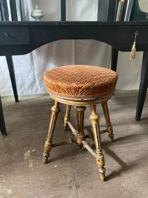 tabouret piano ancien