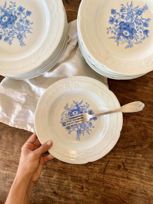 assiettes porcelaine 974
